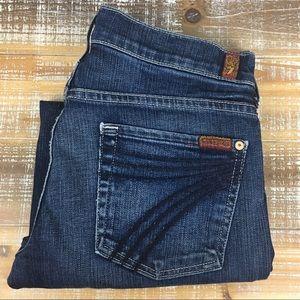 7 FAM DOJO Capri Jeans Sz 28 Medium Wash EUC!